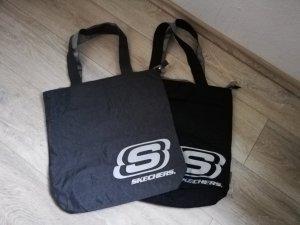 Sketchers 2 Shopper in grau (neu ohne Etikett) und schwarz (getragen und gewaschen)