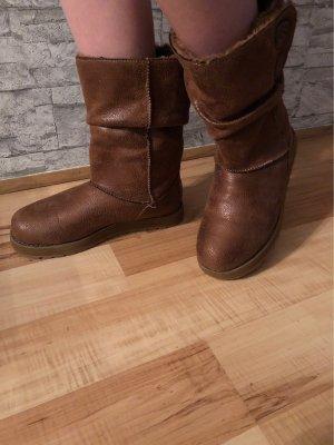 Sketchers Snow Boots brown-cognac-coloured