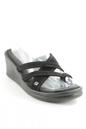 Sketchers Flip Flop Sandalen schwarz Beach-Look