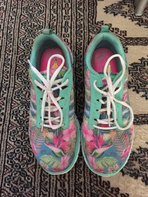 Sketchers Memory Foam Sneaker Tropical Muster