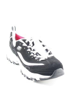 Sketchers Schnürsneaker schwarz-weiß sportlicher Stil