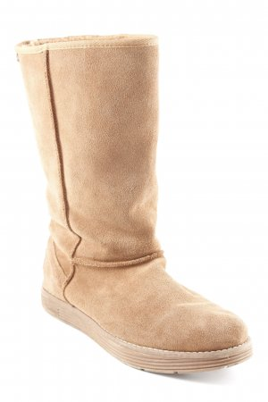 Sketchers Wide Calf Boots light brown casual look
