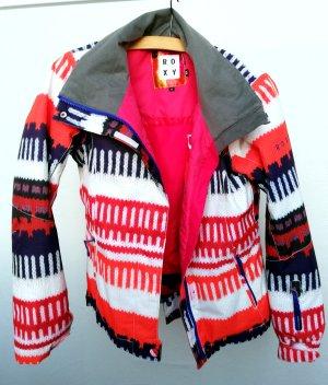 Ski Jacke Roxy Größe XS Weiß Snowboard Pink Rosa