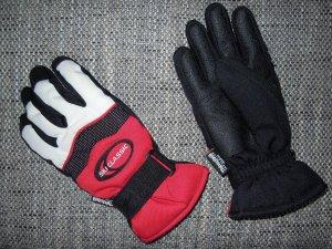Skihandschuhe Handschuhe Thermohandschuhe Gr.M / 7 Schwarz Weiß Rot NEU