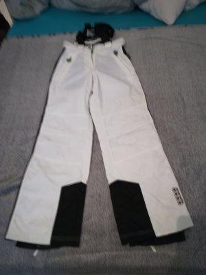 Pantalon de ski blanc-noir