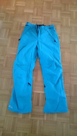 Pantalone da neve blu neon-turchese