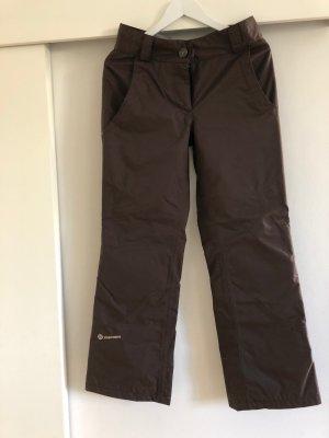 Ziener Pantalon de ski brun-brun foncé