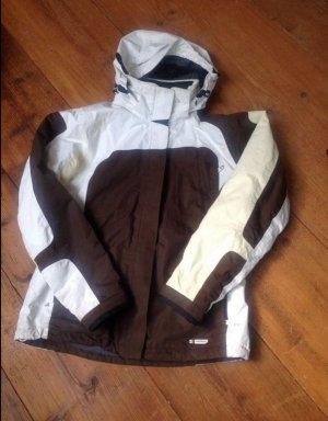 Skijacke/snowboardjacke, Orage, braun weiß, Gr. M-L