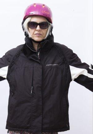 Skijacke, Winterjacke, Snowbordjacke Damen Gr. M, 40-42, schwarz, CrossRace