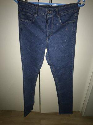 Skinny Ankle high Waist Jeans von H&M( Strass besetzt)