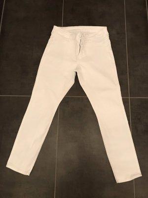 Skinny Ankle Jeans Gr. 33 weiß H&M