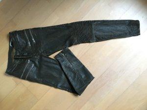 Skinny Bikerhose Khaki Used Look beschichtet 34