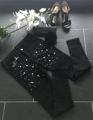 Skinny Blogger Jeans perlenbesatz