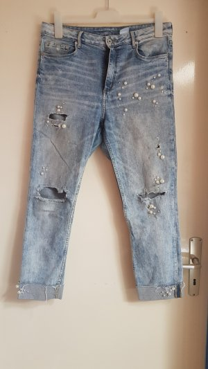 Skinny Destroyed Pearl Jeans