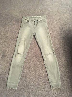 Stradivarius Hoge taille jeans lichtgrijs-grijs
