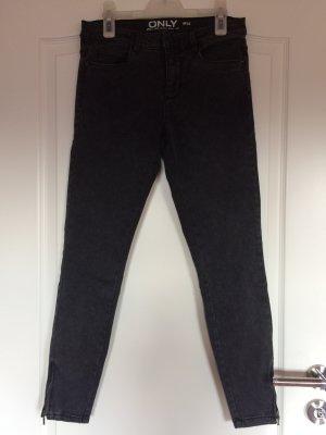 skinny fit jeans, schwarz- grau pigmentiert, only