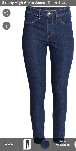 Skinny High Ankle Jeans Dunkelblau Gr.28