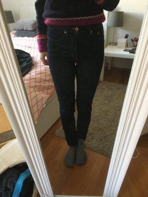 Skinny High Jeans dunkelblau