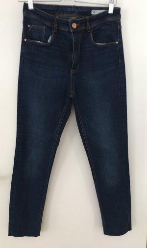 Zara Jeans taille haute bleu foncé