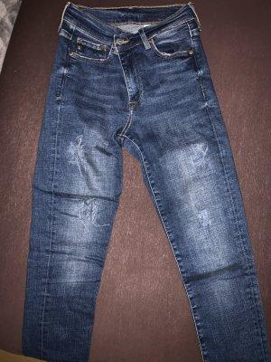 Hoge taille jeans veelkleurig Katoen