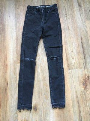 H&M Divided High Waist Jeans black