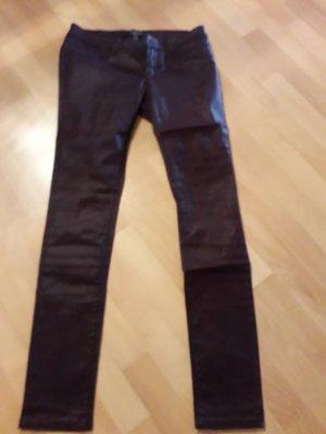 Amisu Pantalon noir-bordeau