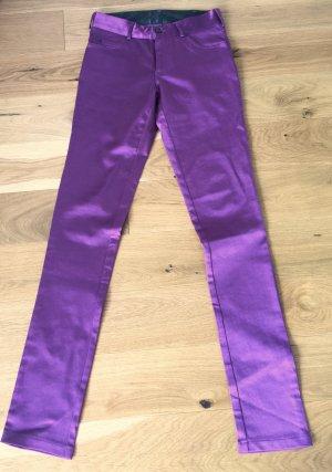 Skinny Hose /Jeans lila glänzend