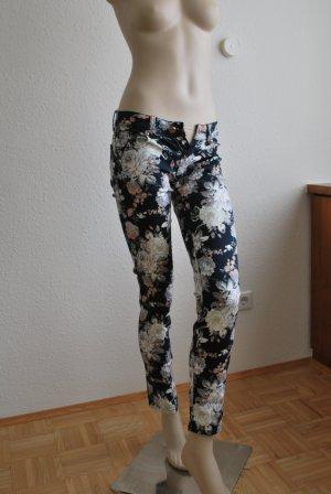 Skinny Hose, Röhre, Slim Fit, dunkelblau gemustert , Größe 34, NEU von MM SWEET