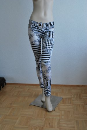Pantalon cigarette multicolore coton