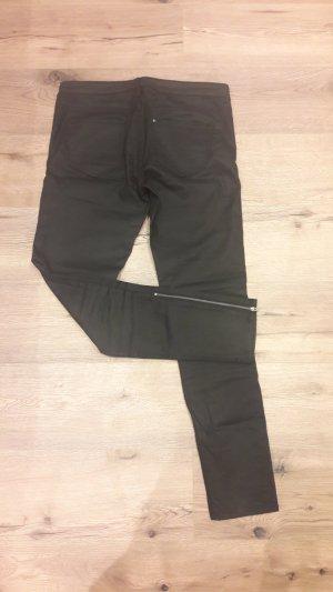 Skinny Hose schwarz H&M mit Reißverschluss in 28 S