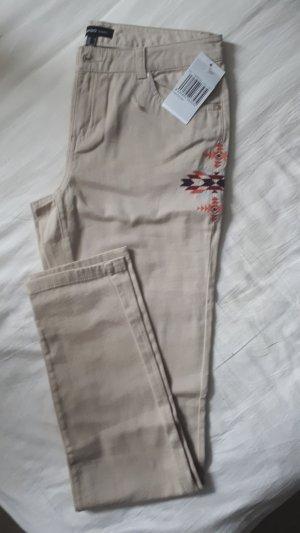 skinny Hose von Beige in Gr 38 mit Etikett