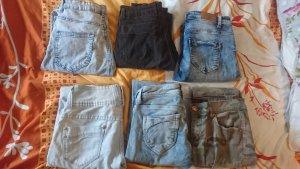 Amisu Jeans skinny ocra-nero