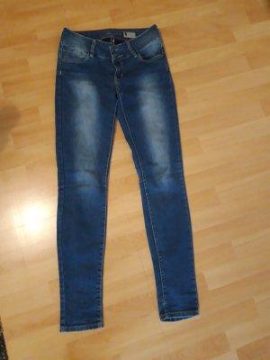 Takko Drainpipe Trousers blue