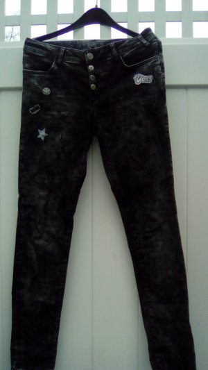 Jeggings black-anthracite