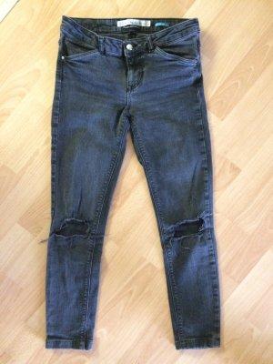 Skinny Jeans 7/8 dunkelgrau Größe 36 Zara trafaluc
