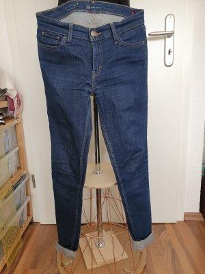 Levi's Pantalon cigarette bleu foncé