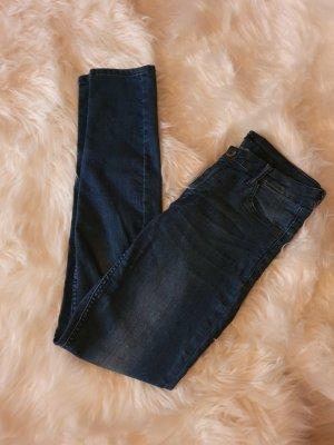 H&M Pantalon cigarette bleu foncé