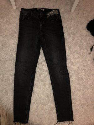 Zara Skinny jeans donkergrijs