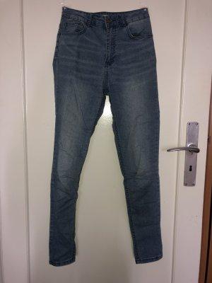 Forever 21 Pantalón de cintura alta azul