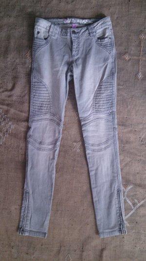 Esprit Biker jeans zilver Katoen