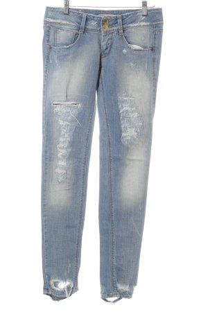 Skinny Jeans blassblau Destroy-Optik