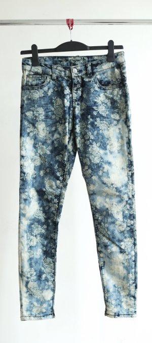 Skinny Jeans - Blumenmuster