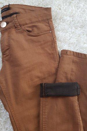 Skinny Jeans Camel > Innen schwarz