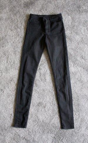 COS Pantalón elástico negro-gris antracita