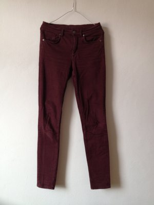 COS Skinny Jeans bordeaux