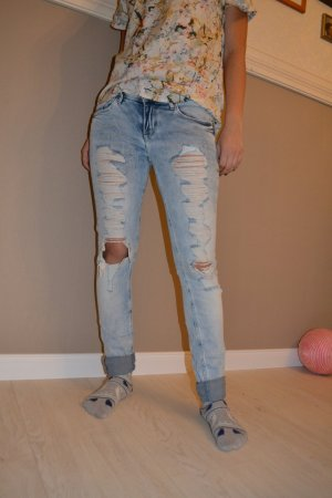 Skinny Jeans destroyed used hell acid H&M 36 S