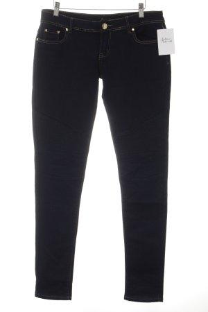 Skinny Jeans dunkelblau-goldfarben Casual-Look