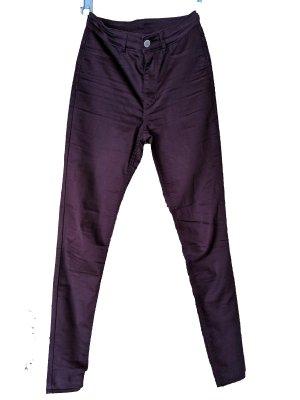 Skinny Jeans dunkles weinrot lila violett