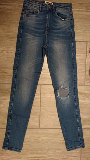 Tally Weijl Hoge taille jeans staalblauw Katoen