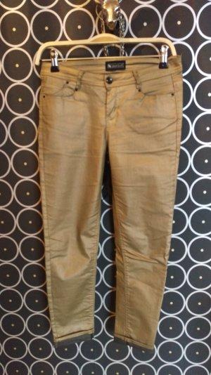 Skinny Jeans goldfarben